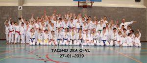 Overzicht van de kinderen die deelnamen aan het JKA Oost-Vlaams Kampioenschap 2019