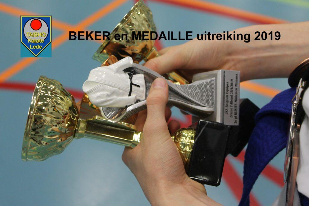Beker en Medaille uitreiking 2019